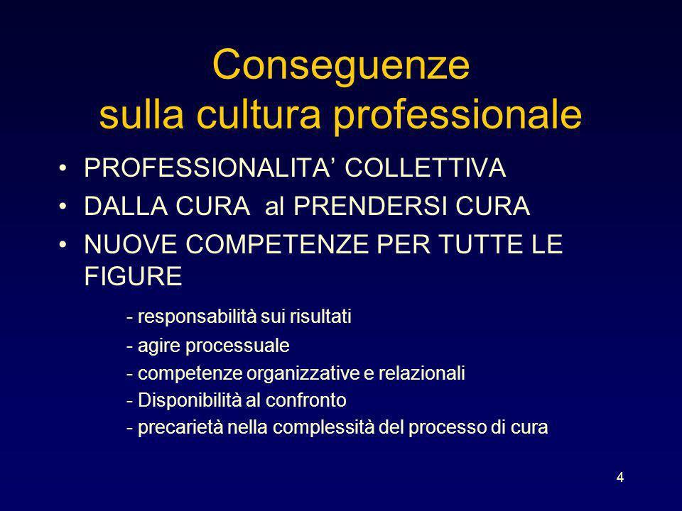 Conseguenze sulla cultura professionale