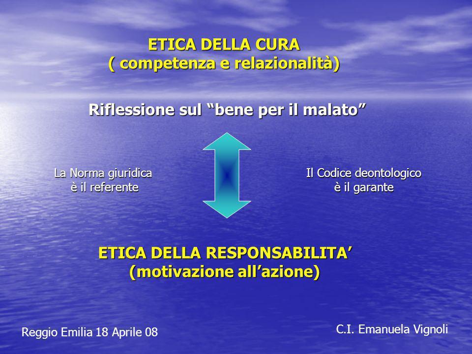 ETICA DELLA CURA ( competenza e relazionalità)