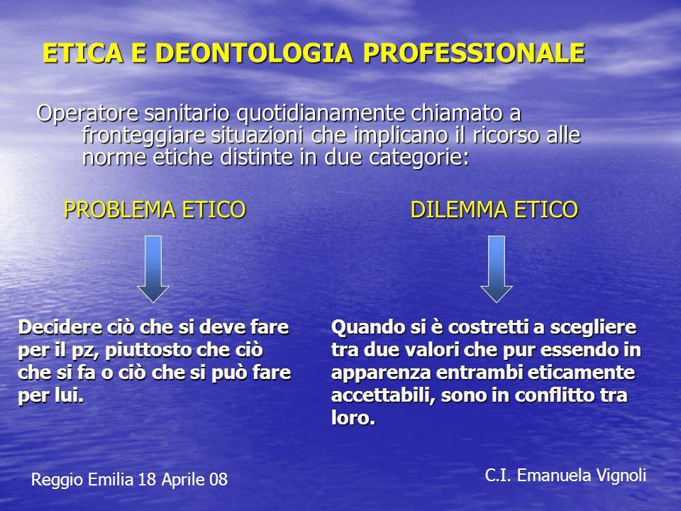 ETICA E DEONTOLOGIA PROFESSIONALE