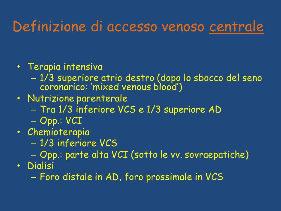 Definizione di accesso venoso centrale