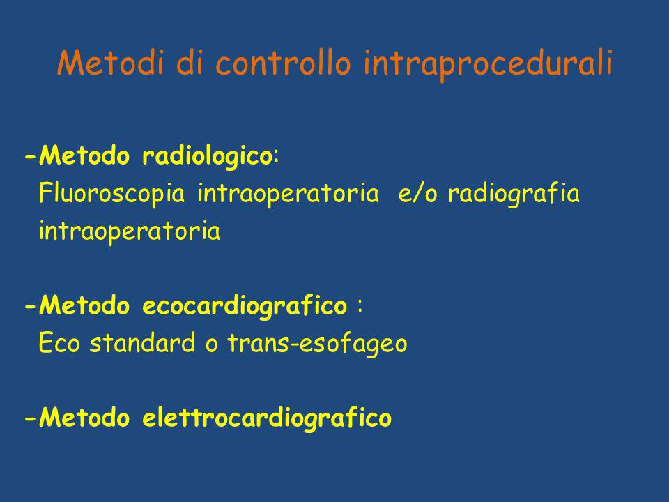 Metodi di controllo intraprocedurali