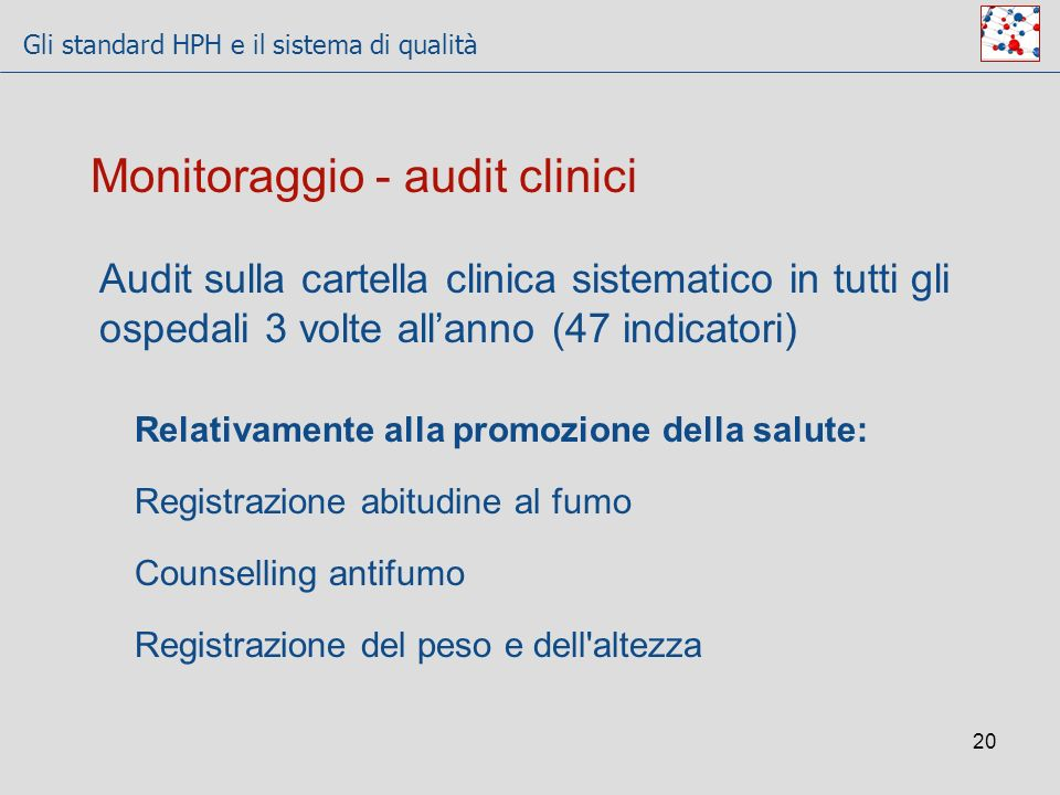 Monitoraggio - audit clinici