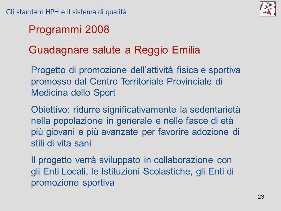 Guadagnare salute a Reggio Emilia