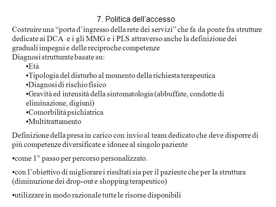 7. Politica dell'accesso