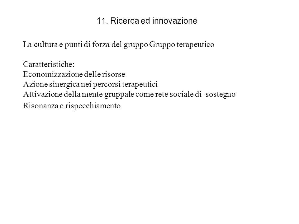 11. Ricerca ed innovazione
