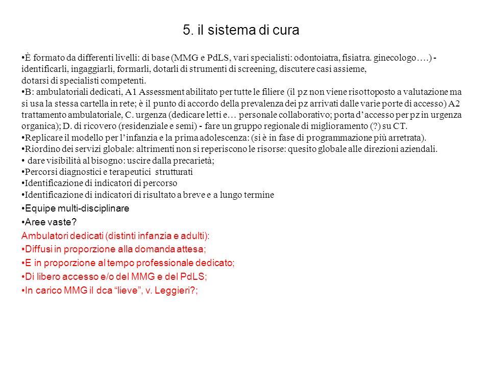 5. il sistema di cura