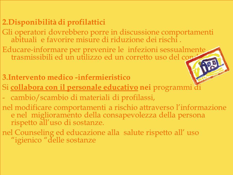 2.Disponibilità di profilattici