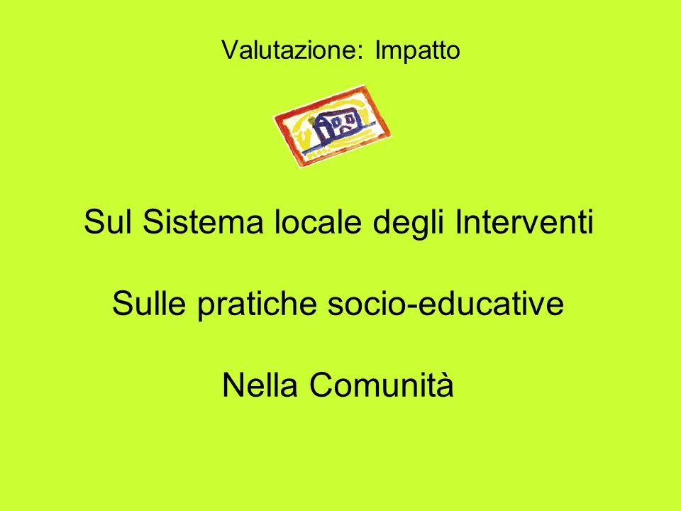 Sul Sistema locale degli Interventi Sulle pratiche socio-educative