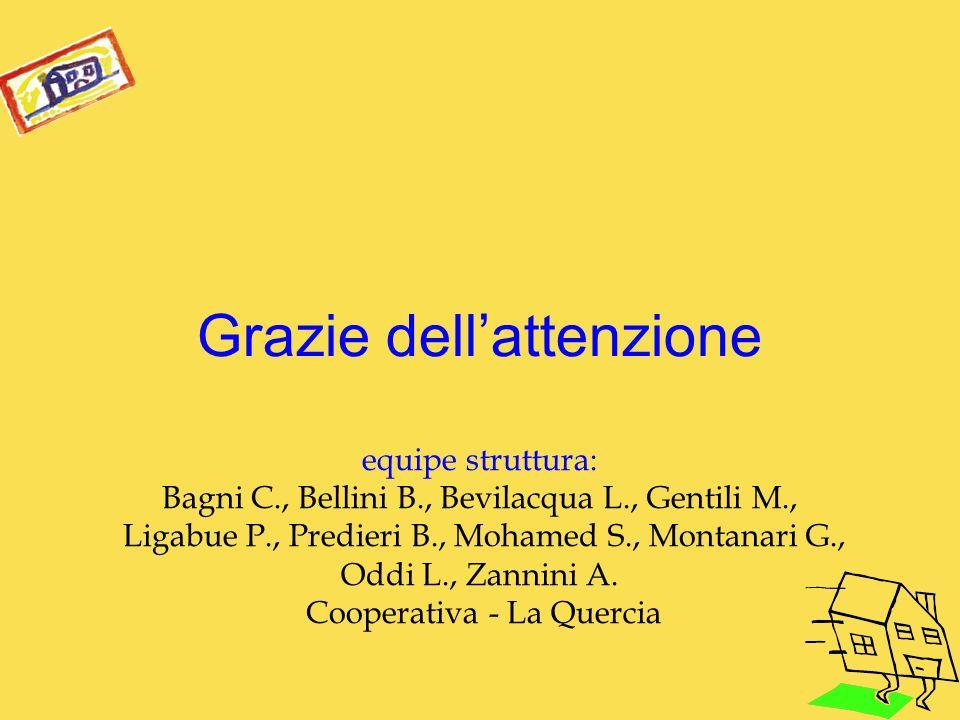 Grazie dell'attenzione equipe struttura: Bagni C. , Bellini B