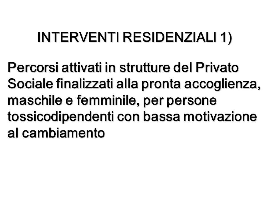 INTERVENTI RESIDENZIALI 1)