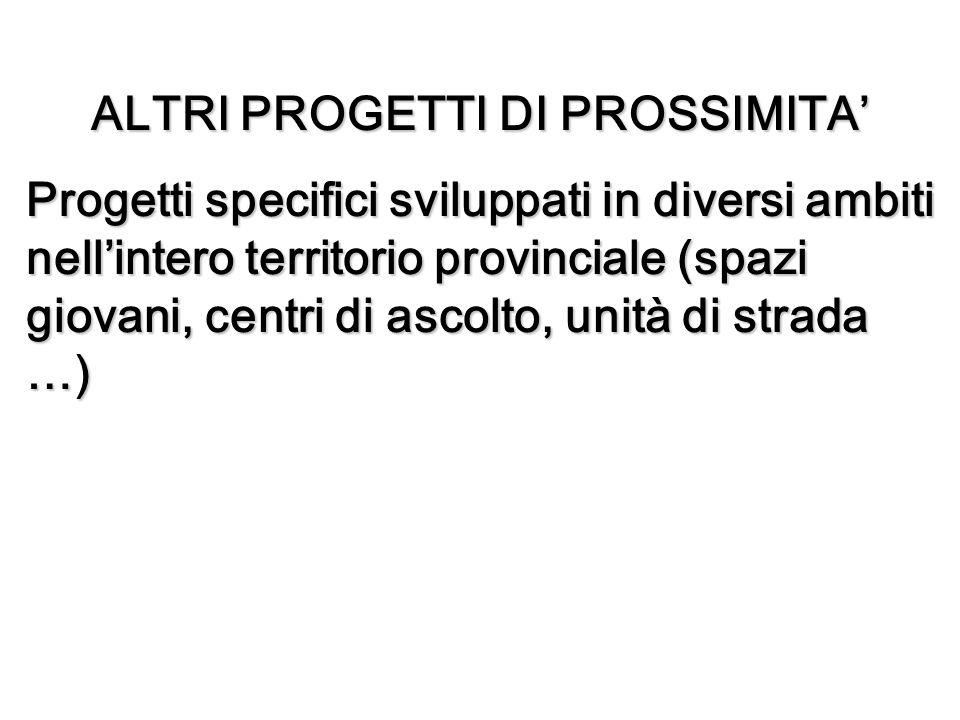 ALTRI PROGETTI DI PROSSIMITA'