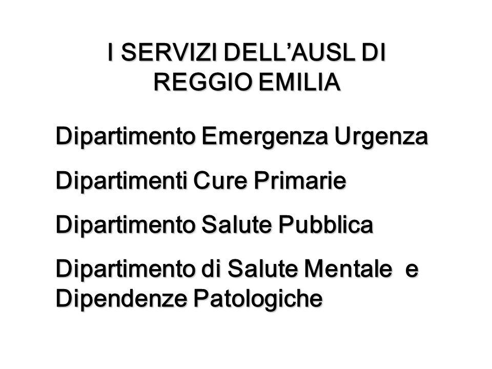 I SERVIZI DELL'AUSL DI REGGIO EMILIA