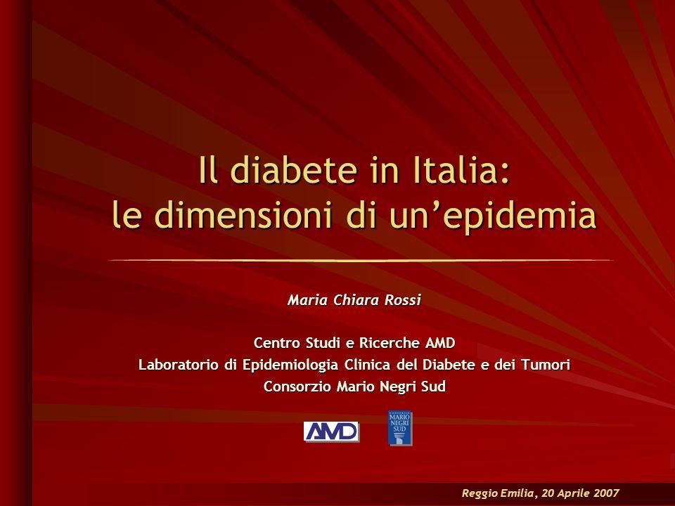 Il diabete in Italia: le dimensioni di un'epidemia