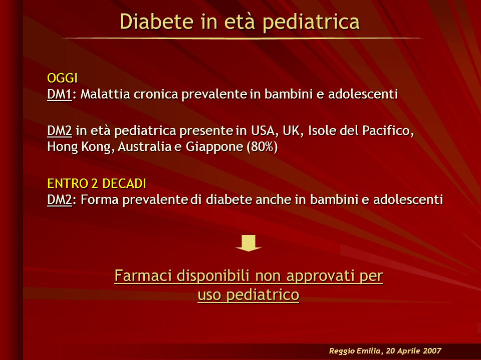 Diabete in età pediatrica