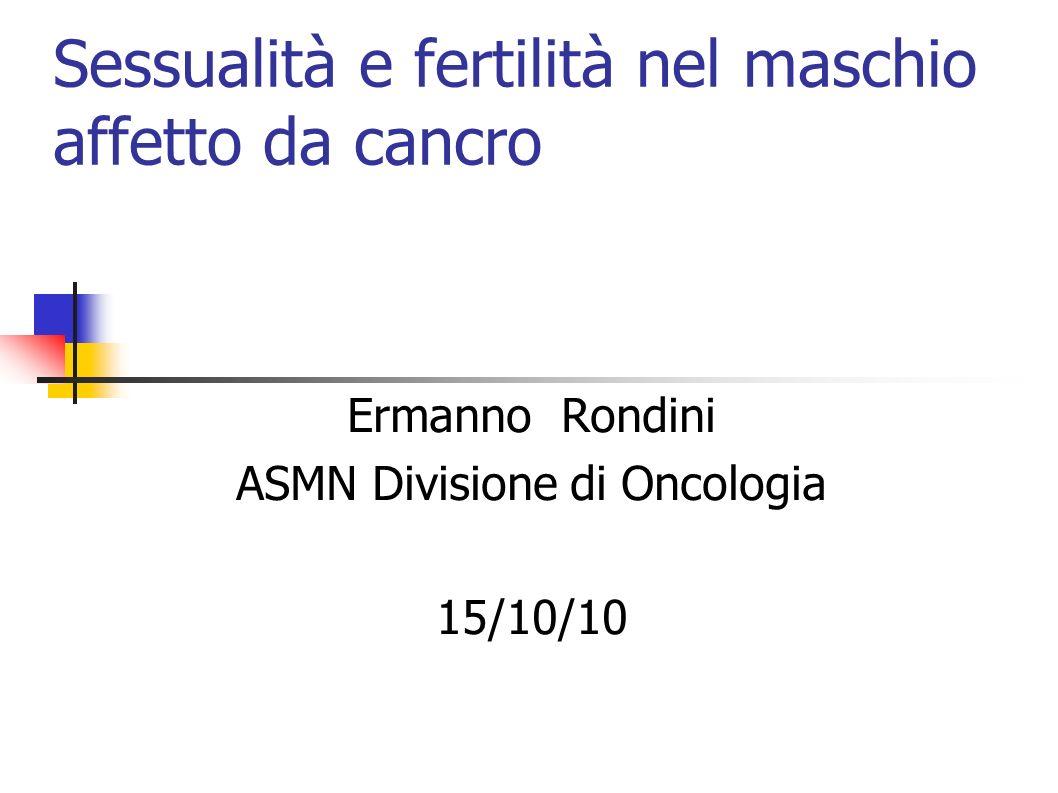 Sessualità e fertilità nel maschio affetto da cancro