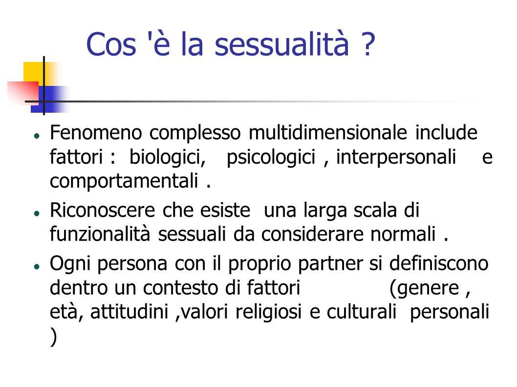 Cos è la sessualità Fenomeno complesso multidimensionale include fattori : biologici, psicologici , interpersonali e comportamentali .