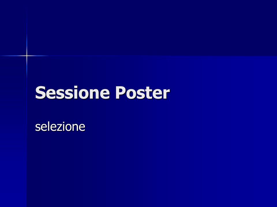 Sessione Poster selezione