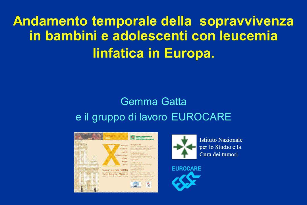 Gemma Gatta e il gruppo di lavoro EUROCARE
