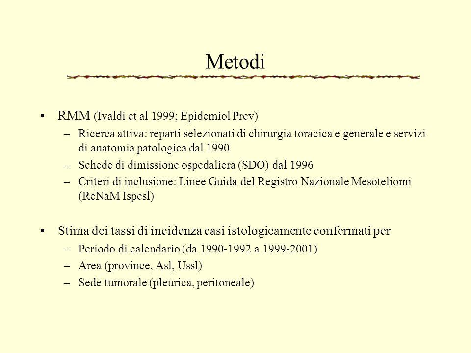 Metodi RMM (Ivaldi et al 1999; Epidemiol Prev)