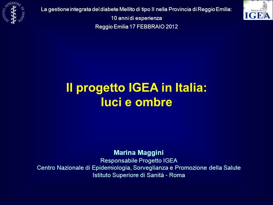 Il progetto IGEA in Italia: