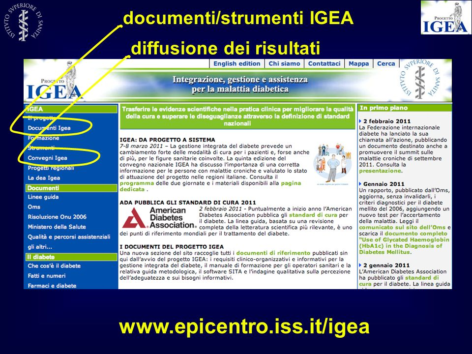 www.epicentro.iss.it/igea documenti/strumenti IGEA
