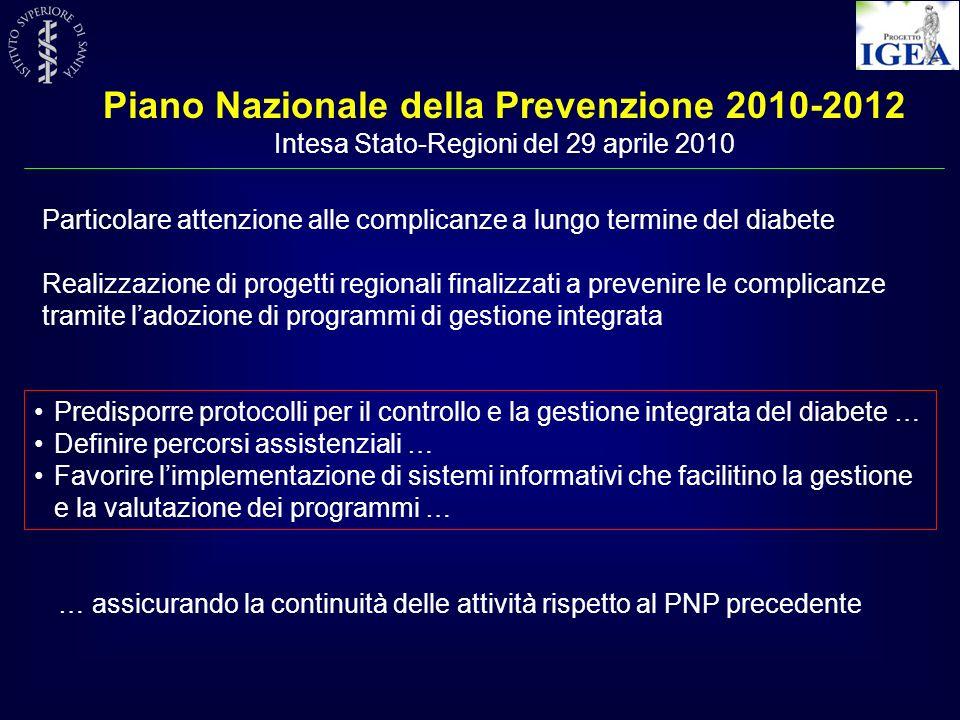 Piano Nazionale della Prevenzione 2010-2012
