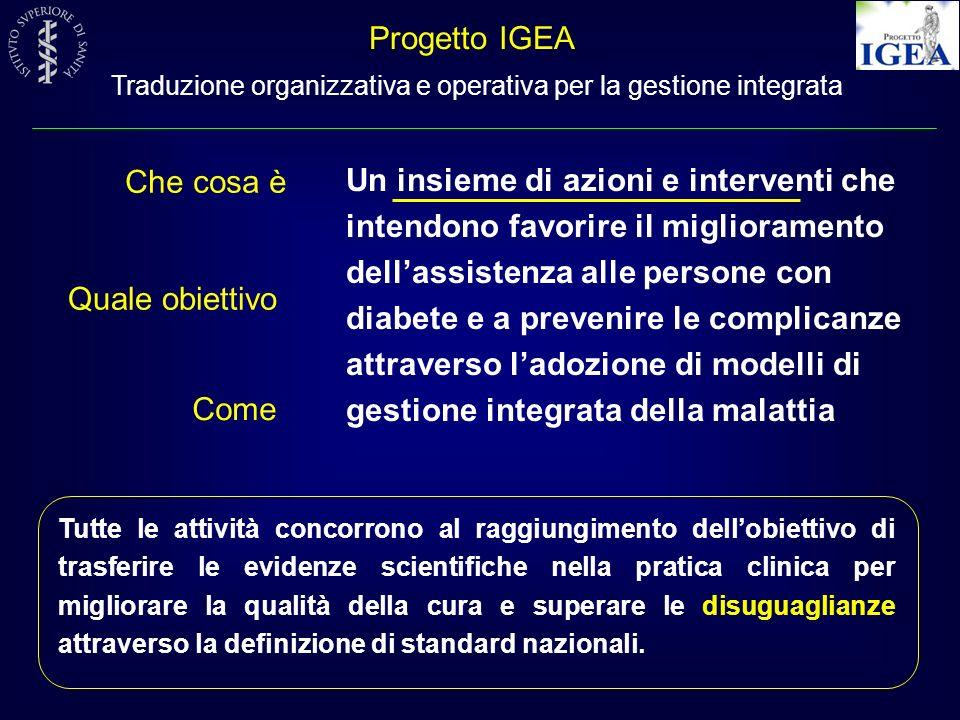 Progetto IGEA Traduzione organizzativa e operativa per la gestione integrata