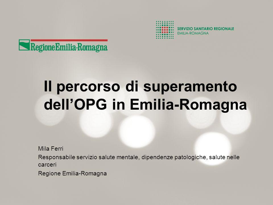 Il percorso di superamento dell'OPG in Emilia-Romagna