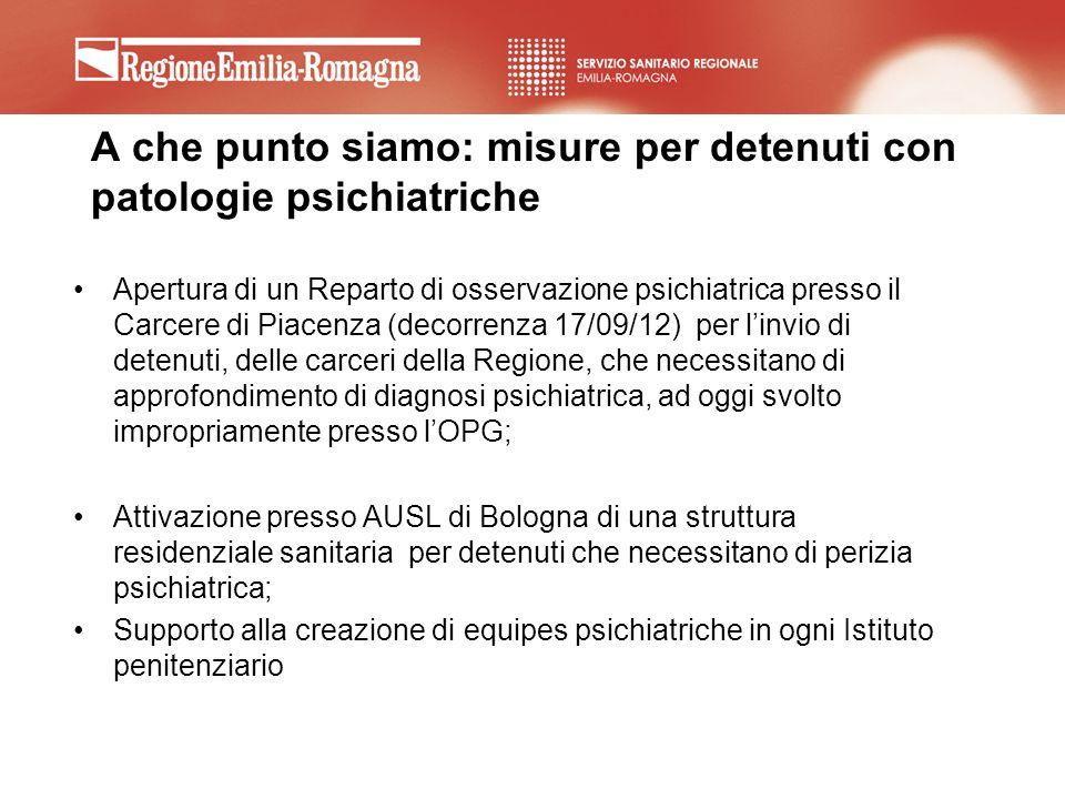 A che punto siamo: misure per detenuti con patologie psichiatriche