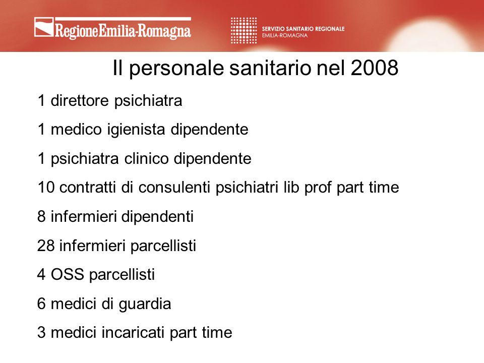 Il personale sanitario nel 2008