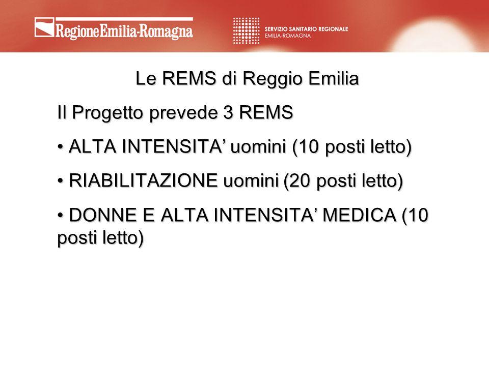 Le REMS di Reggio Emilia