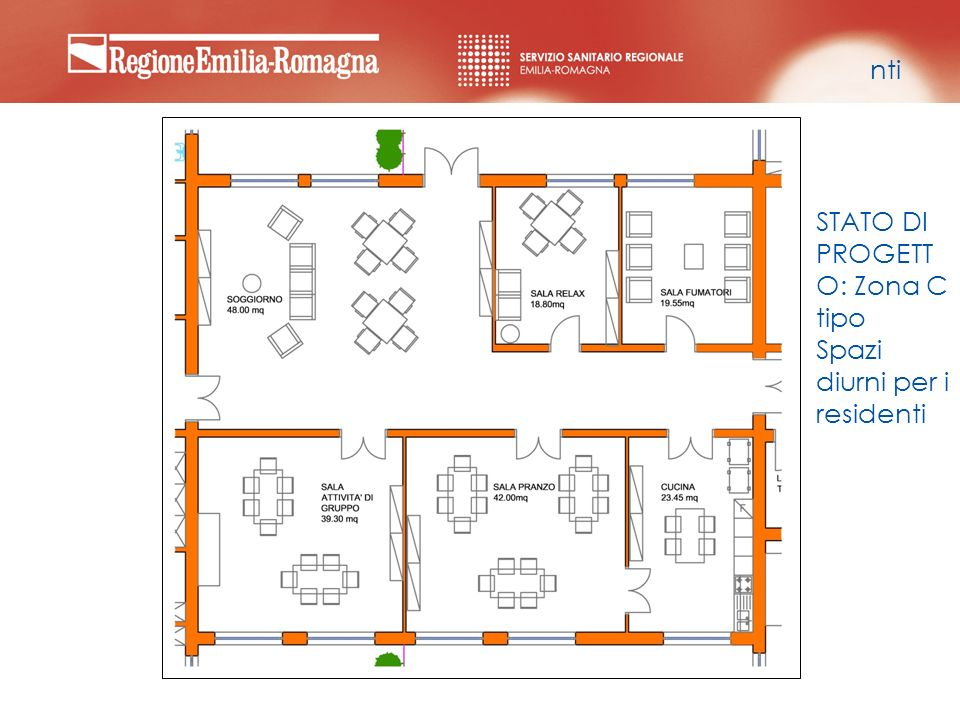 nti STATO DI PROGETTO: Zona C tipo Spazi diurni per i residenti