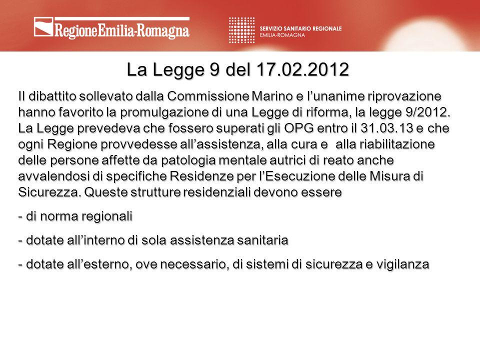 La Legge 9 del 17.02.2012