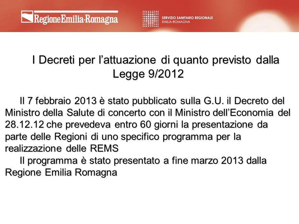 I Decreti per l'attuazione di quanto previsto dalla Legge 9/2012