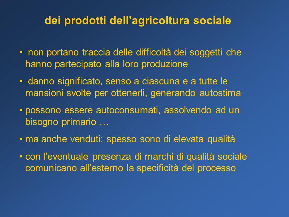 dei prodotti dell'agricoltura sociale