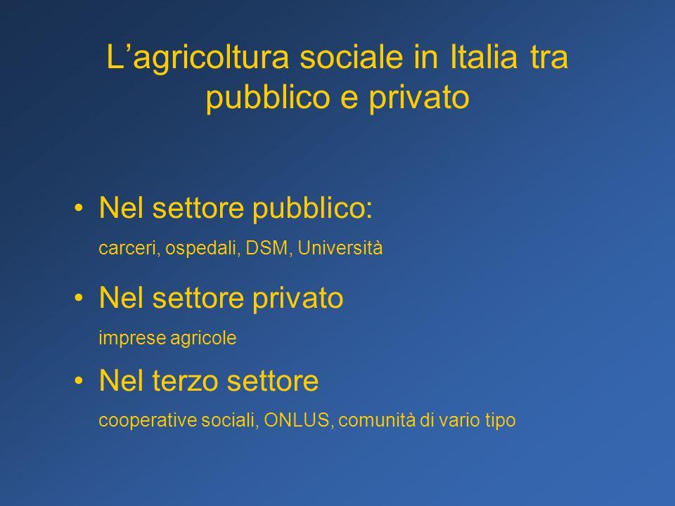 L'agricoltura sociale in Italia tra pubblico e privato