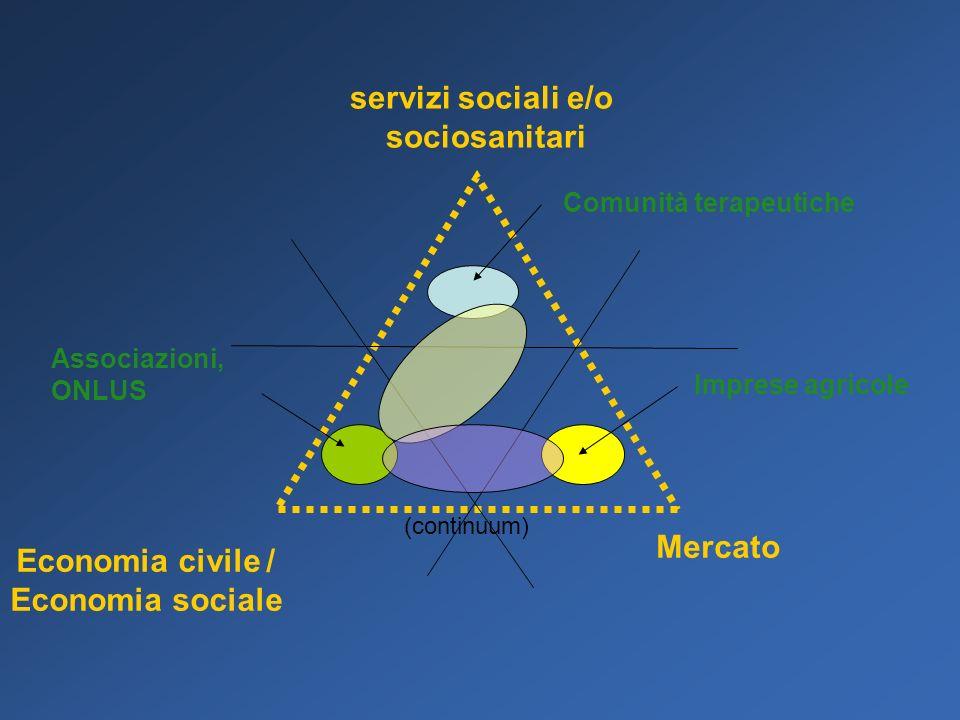 servizi sociali e/o sociosanitari Economia civile / Economia sociale