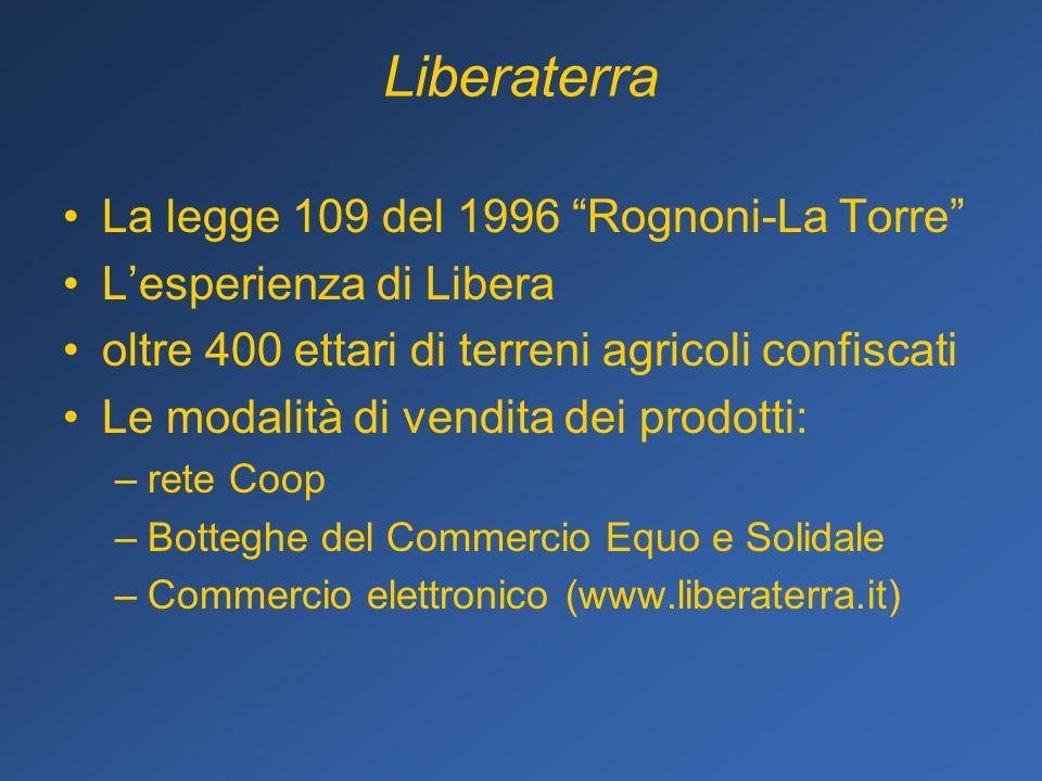 Liberaterra La legge 109 del 1996 Rognoni-La Torre