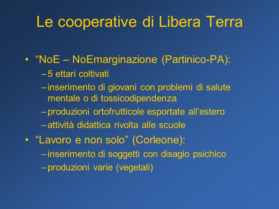 Le cooperative di Libera Terra