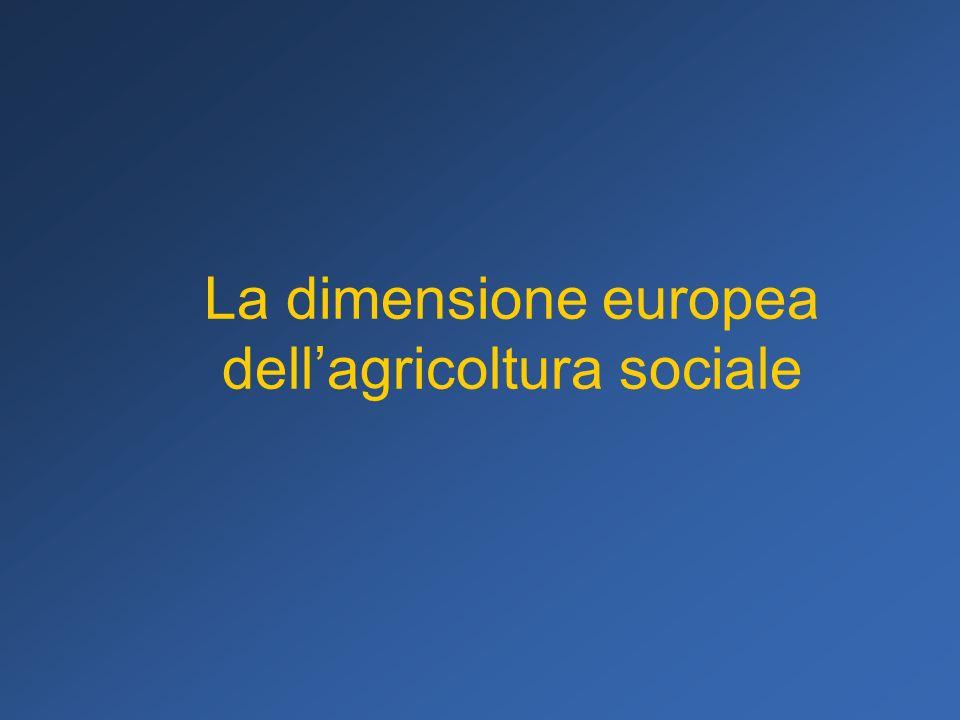 La dimensione europea dell'agricoltura sociale