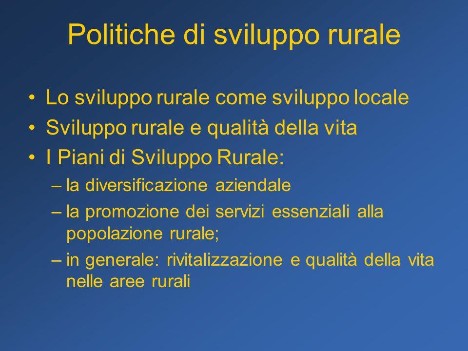 Politiche di sviluppo rurale