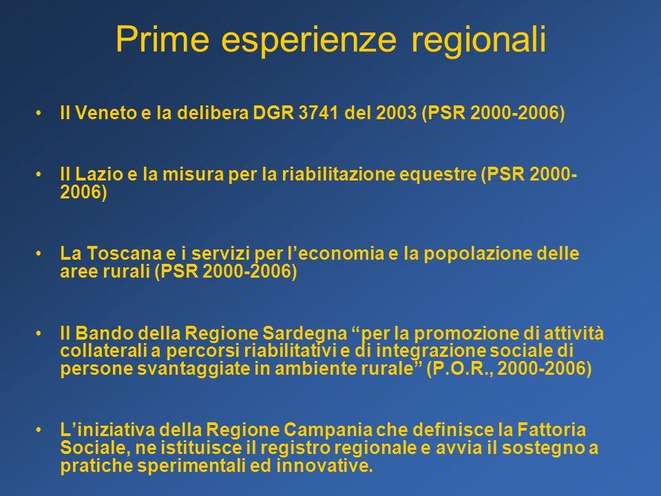 Prime esperienze regionali