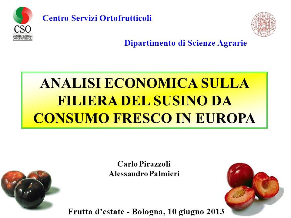 ANALISI ECONOMICA SULLA FILIERA DEL SUSINO DA CONSUMO FRESCO IN EUROPA