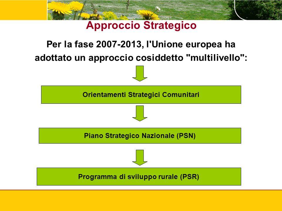 Approccio Strategico Per la fase 2007-2013, l Unione europea ha