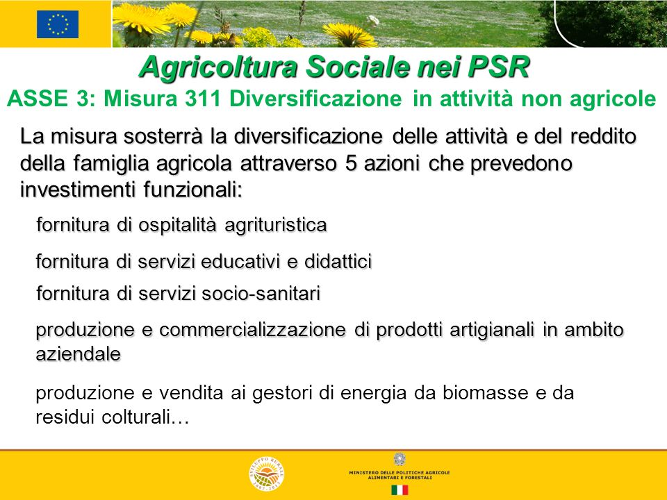 Agricoltura Sociale nei PSR