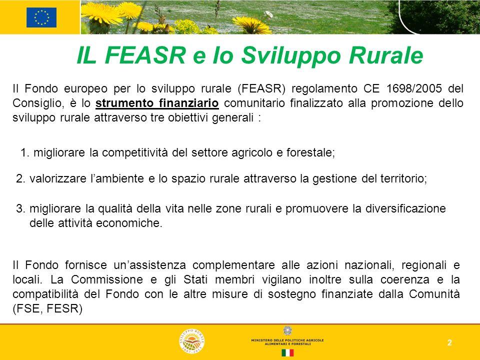 IL FEASR e lo Sviluppo Rurale