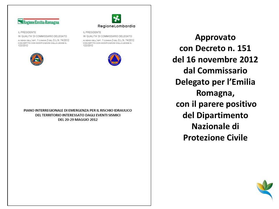 del 16 novembre 2012 dal Commissario Delegato per l'Emilia Romagna,