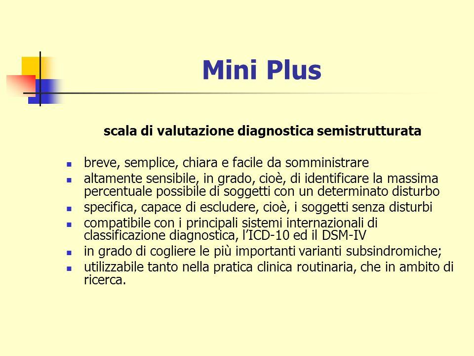 scala di valutazione diagnostica semistrutturata