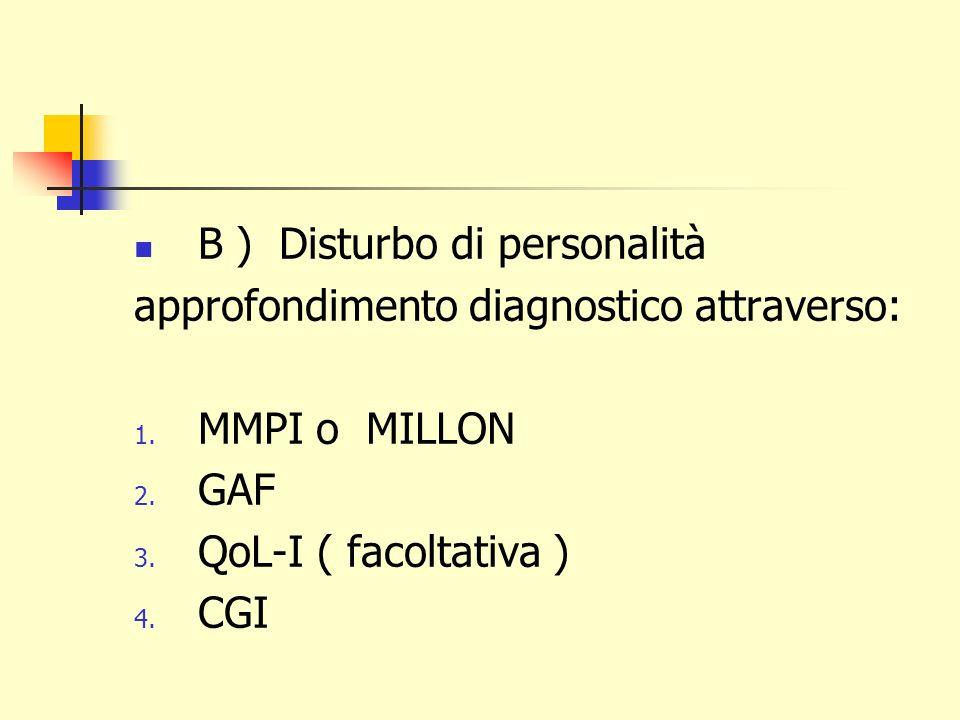 B ) Disturbo di personalità