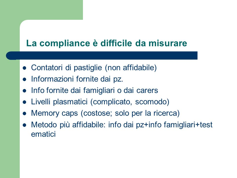 La compliance è difficile da misurare